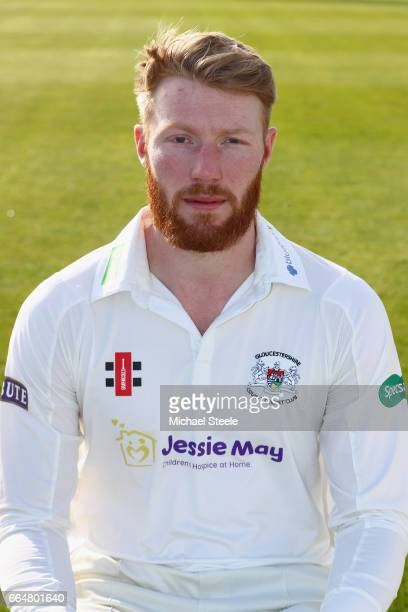 Liam Norwell of Gloucestershire in the Specsavers County Championship kit during the Gloucestershire County Cricket photocall at The Brightside...