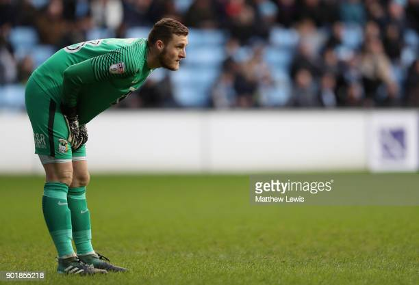 Liam O'Brien of Coventry City in action during The Emirates FA Cup Third Round match between Coventry City and Stoke City at Ricoh Arena on January 6...