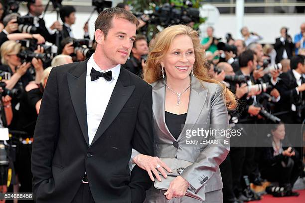 Liam O'Neill and Faye Dunaway at the premiere of Les BienAimes Premiere and Closing Ceremony Arrivals during the 64th Cannes International Film...