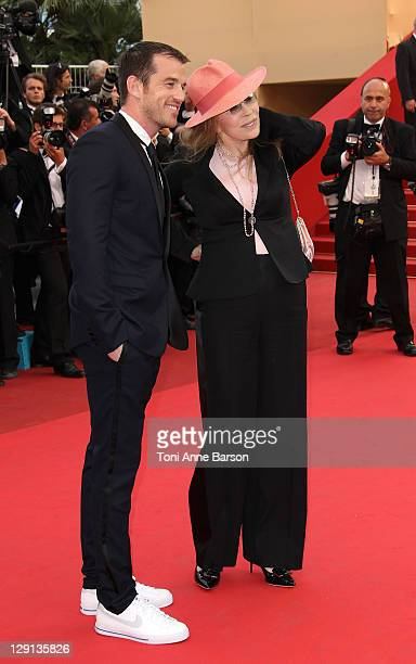 "Liam O'Neill and Faye Dunaway attend ""The Beaver"" Premiere during the 64th Cannes Film Festival at the Palais des Festivals on May 17, 2011 in..."