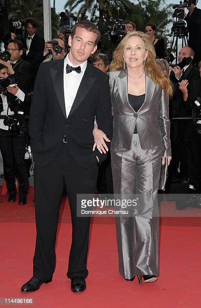 "Liam O'Neill and Faye Dunaway attend the ""Les Bien-Aimes"" Premiere and Closing Ceremony during the 64th Annual Cannes Film Festival at the Palais des..."