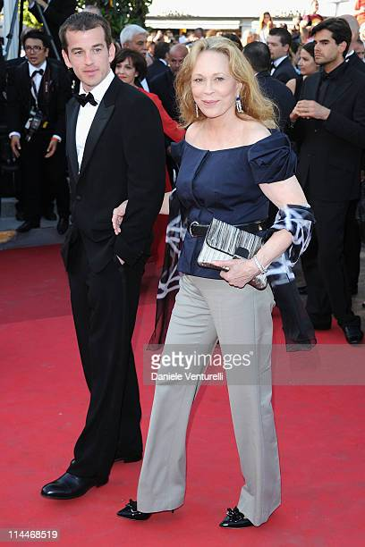 "Liam O'Neill and Faye Dunaway attend the ""This Must Be The Place"" Premiere during the 64th Cannes Film Festival at the Palais des Festivals on May..."