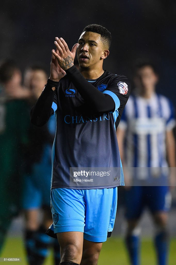 Liam Palmer of Sheffield Wednesday applauds the travelling fans at the end of the Sky Bet Championship match between Brighton and Hove Albion and Sheffield Wednesday at the Amex Stadium on March 8, 2016 in Brighton, United Kingdom.