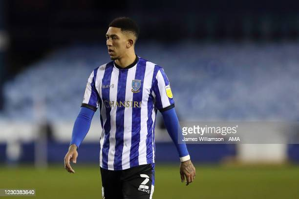 Liam Palmer of Sheffield Wednesday during the Sky Bet Championship match between Sheffield Wednesday and Derby County at Hillsborough Stadium on...