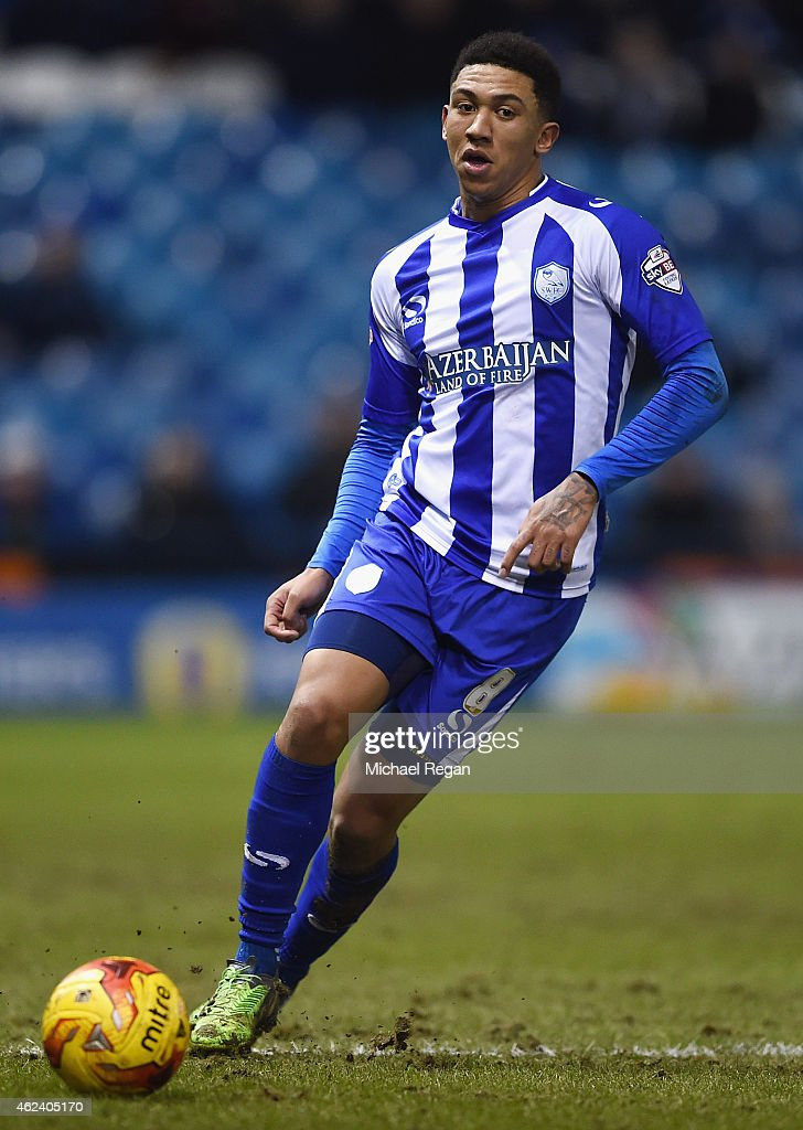 Liam Palmer of Sheffield Wednesday in action during the Sky Bet Championship match between Sheffield Wednesday and Birmingham City at Hillsborough Stadium on January 27, 2015 in Sheffield, England.