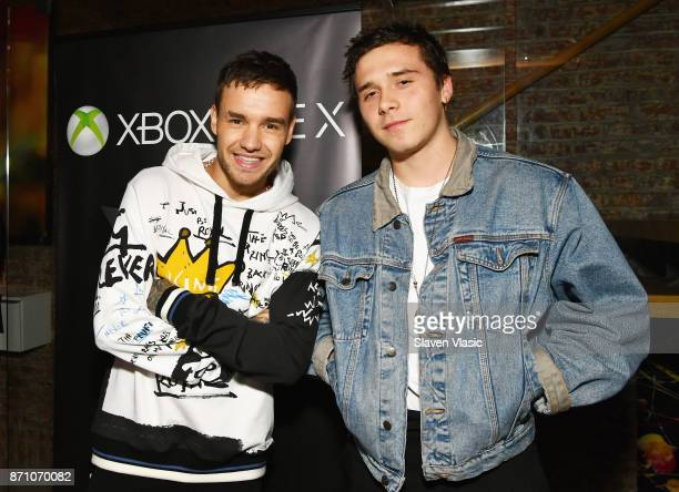 Liam Payne and Brooklyn Beckham attend as Liam Payne Chloe Grace Moretz Brooklyn Beckham and Caleb McLaughlin Host Xbox One x VIP Event Xbox Live...
