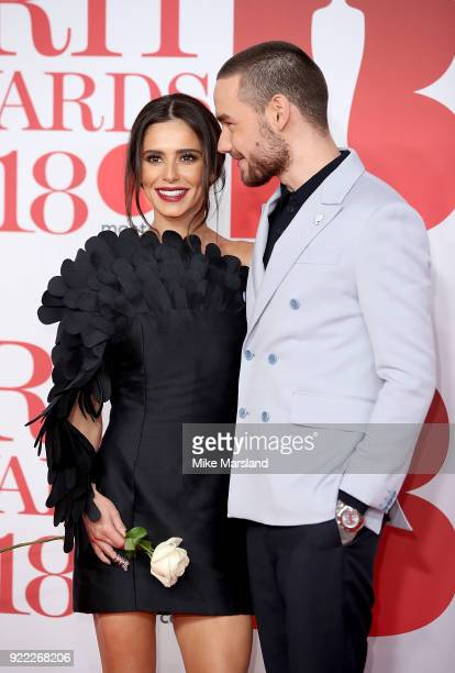 AWARDS 2018 *** Liam Payne and Cheryl Cole attend The BRIT Awards 2018 held at The O2 Arena on February 21 2018 in London England
