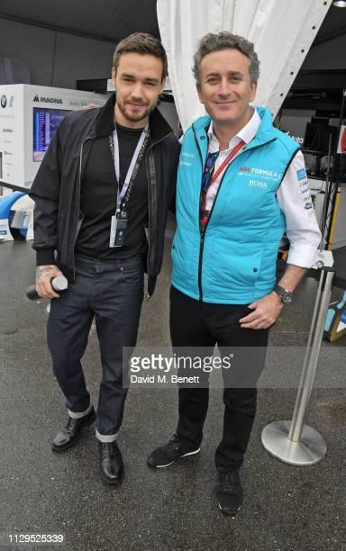 Liam Payne and Formula E CEO Alejandro Agag attend the ABB FIA Formula E HKT Hong Kong EPrix on March 10 2019 in Hong Kong
