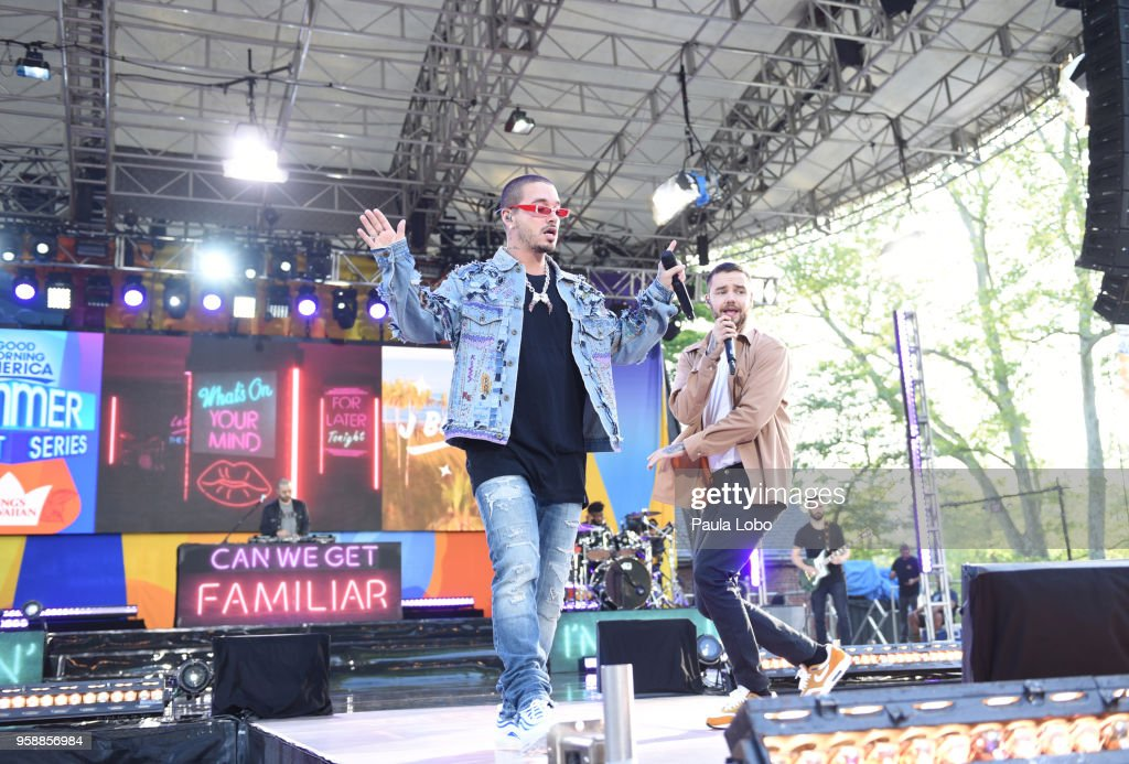 AMERICA - Liam Payne and J Balvin perform live from Central Park to kick off the Summer Concert Series on 'Good Morning America,' Tuesday, May 15, 2018, airing on the ABC Television Network. J