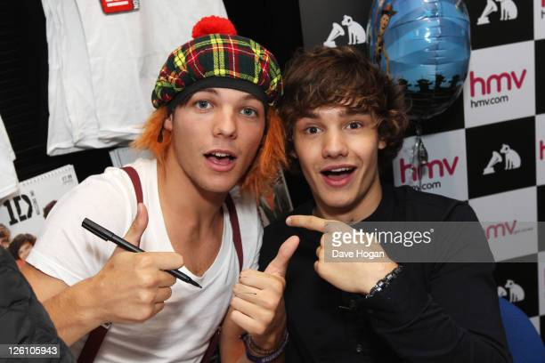 LR Liam Payne and Louis Tomlinson and of One Direction tour Glasgow Manchester and London on September 11 2011 The tour was taken in a luxury...