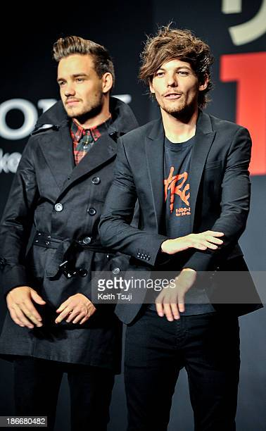 Liam Payne and Louis Tomlinson of One Direction meet Japanese fans to promote 'The 1Derland THIS IS US' on November 3 2013 in Chiba Japan