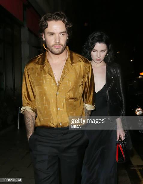 Liam Payne and Maya Henry are seen leaving Novikov restaurant on August 27 2020 in London England
