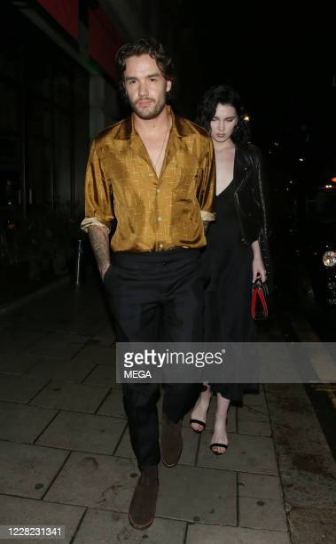 Liam Payne and Maya Henry are seen leaving Novikov restaurant on August 27, 2020 in London, England.