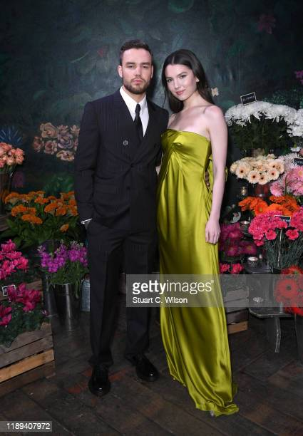 Liam Payne and Maya Henry attend the gala dinner in honour of Edward Enninful winner of the Global VOICES Award 2019 during #BoFVOICES on November 22...