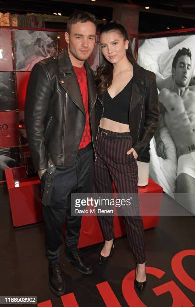 Liam Payne and Maya Henry attend the Hugo X Liam Payne Bodywear Campaign party at Flannels on December 4 2019 in London England