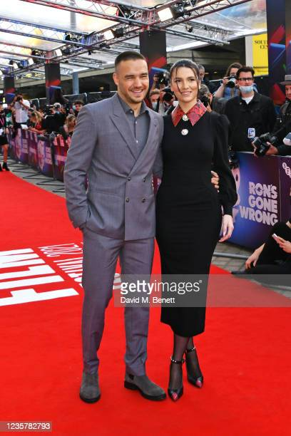 """Liam Payne and Maya Henry attend the UK Premiere of """"Ron's Gone Wrong"""" during the 65th London Film Festival at The Royal Festival Hall on October 9,..."""