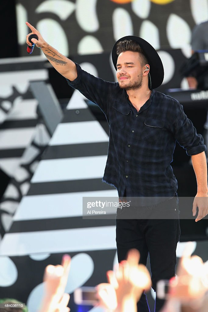 Liam Payne and One Direction perform on ABC's 'Good Morning America' at Rumsey Playfield, Central Park on August 4, 2015 in New York City.