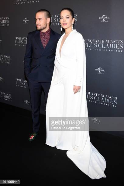 Liam Payne and Rita Ora attend 'Fifty Shades Freed 50 Nuances Plus Claires' Premiere at Salle Pleyel on February 6 2018 in Paris France