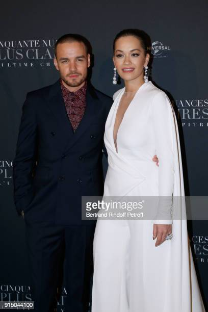 Liam Payne and Rita Ora attend the Fifty Shades Freed 50 Nuances Plus Clair Paris Premiere at Salle Pleyel on February 6 2018 in Paris France