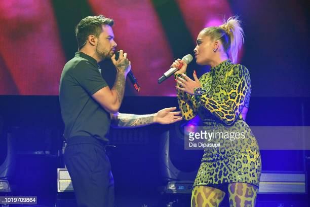 Liam Payne and Rita Ora perform onstage during the MTV VMA Kickoff Concert presented by DirecTV Now at Terminal 5 on August 19 2018 in New York City
