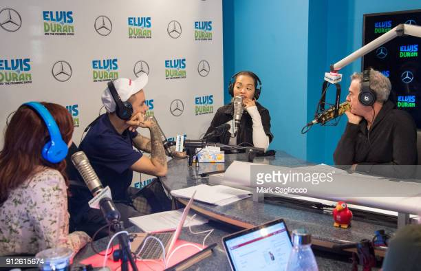 Liam Payne and Rita Ora visit 'The Elvis Duran Z100 Morning Show' at Z100 Studio on January 31 2018 in New York City