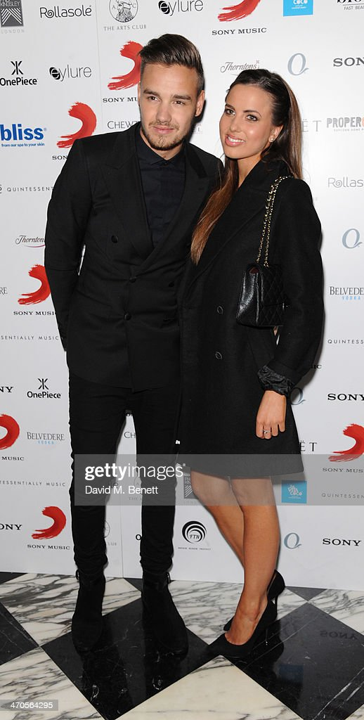 Liam Payne (L) and Sophia Smith attend The BRIT Awards 2014 Sony after party on February 19, 2014 in London, England.