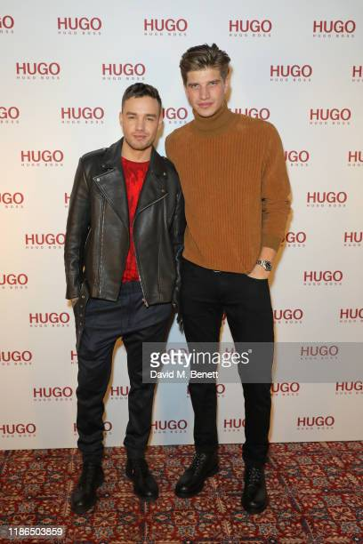 Liam Payne and Toby HuntingtonWhiteley attend the Hugo X Liam Payne Bodywear Campaign party at Flannels on December 4 2019 in London England