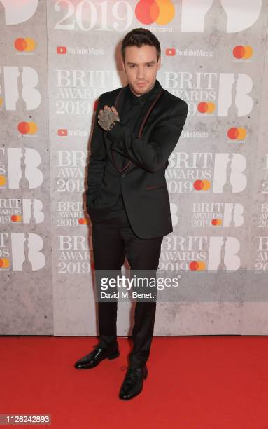 Liam Payne arrives at The BRIT Awards 2019 held at The O2 Arena on February 20 2019 in London England