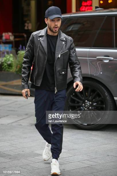 Liam Payne arriving at Global Radio Studios London on August 13 2018 in London England