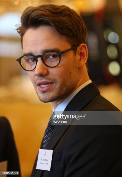 Liam Payne attends a reception prior to the 2017 Queen's Young Leaders Awards Ceremony at Buckingham Palace on June 29 2017 in London England The...
