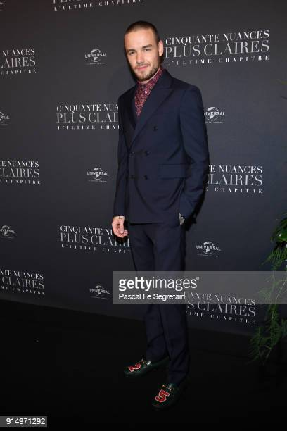 Liam Payne attends Fifty Shades Freed 50 Nuances Plus Claires Premiere at Salle Pleyel on February 6 2018 in Paris France