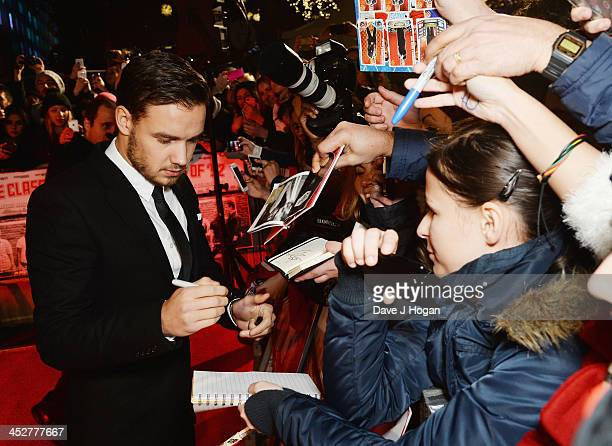 Liam Payne attends the World premiere of The Class of 92 at Odeon West End on December 1 2013 in London England
