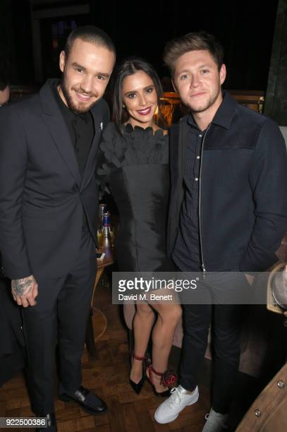 Liam Payne Cheryl and Niall Horan attend the Universal Music BRIT Awards AfterParty 2018 hosted by Soho House and Bacardi at The Ned on February 21...