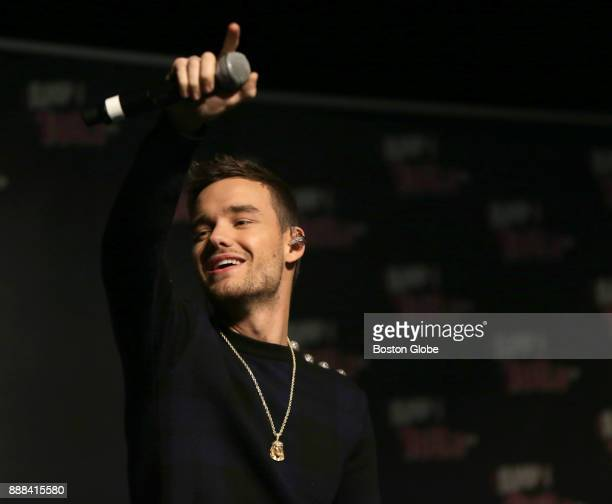 Liam Payne former member of One Direction performs at Notre Dame Academy in Hingham MA on Dec 7 2017 Students at the high school collected more than...