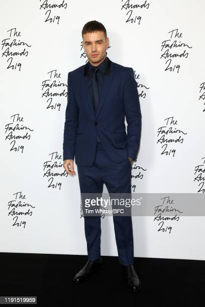 Liam Payne in the winners room during The Fashion Awards 2019 held at Royal Albert Hall on December 02 2019 in London England