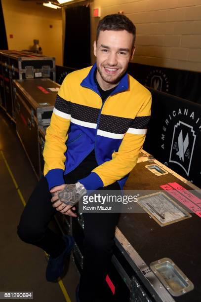 Liam Payne is seen backstage at 1061 KISS FM's Jingle Ball 2017 Presented by Capital One at American Airlines Center on November 28 2017 in Dallas...