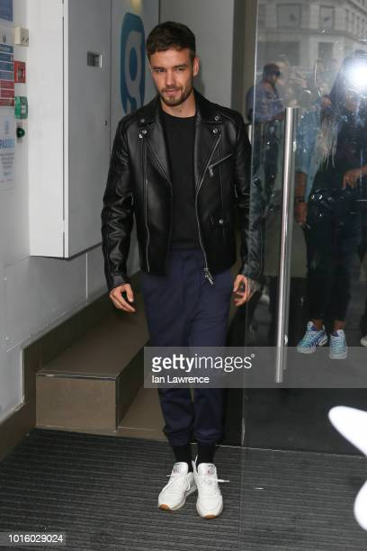Liam Payne leaving Global Radio Studios on August 13 2018 in London England