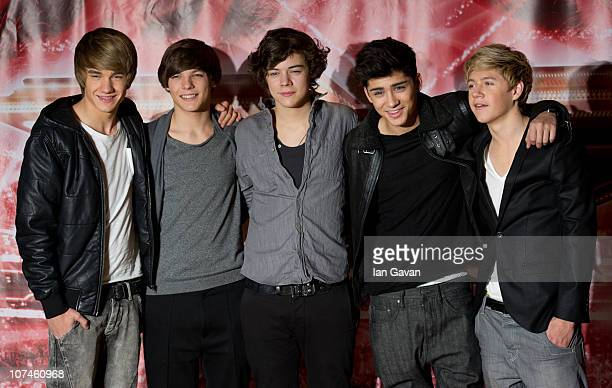 Liam Payne Louis Tomlinson Harry Styles Zane Malik and Niall Horan of 'One Direction' attend a photocall during the X Factor press conference at the...