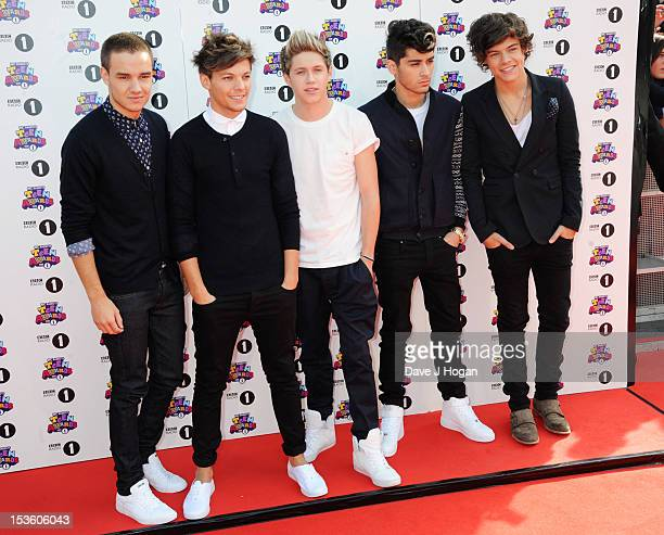 Liam Payne Louis Tomlinson Niall Horan Zayn Malik and Harry Styles of One Direction attend the BBC Radio 1 Teen Awards 2012 at Wembley Arena on...