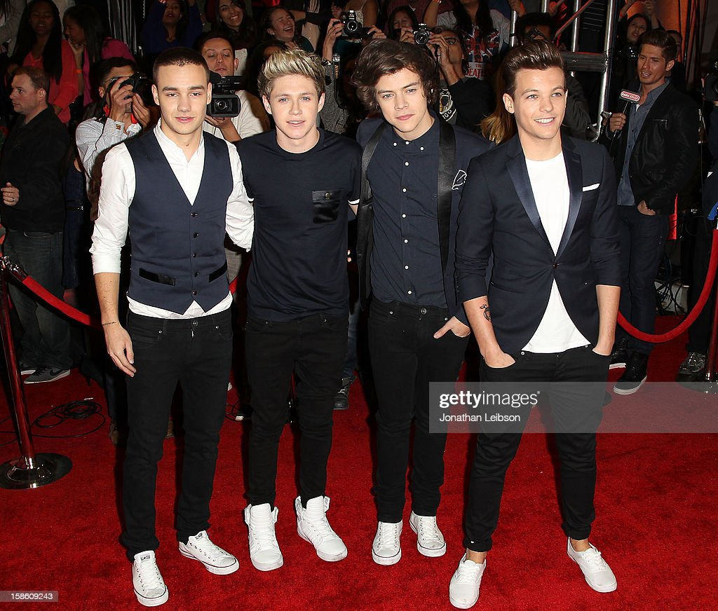 Liam Payne, Niall Horan, Harry Styles and Louis Tomlinson of One Direction arrive at the FOX's 'The X Factor' Season Finale - Night 2 at CBS Television City on December 20, 2012 in Los Angeles, California.