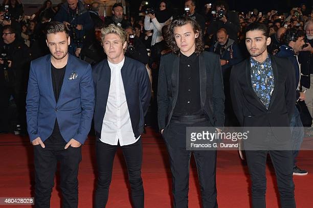 Liam Payne Niall Horan Harry Styles and Zayn Malik of 'One Direction' arrive at the 16th NRJ Music Awards at Palais des Festivals on December 13 2014...