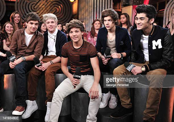 Liam Payne Niall Horan Louis Tomlinson Harry Styles and Zayn Malik from One Direction Visit MuchMusic on March 26 2012 in Toronto Canada