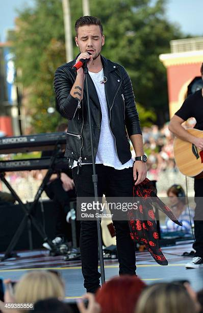 Liam Payne of the band One Direction appear on NBC's Today Show to release their new album Four at Universal City Walk At Universal Orlando on...