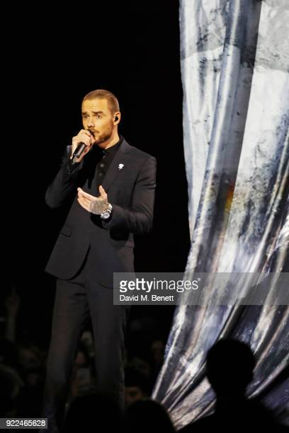 Liam Payne performs at The BRIT Awards 2018 held at The O2 Arena on February 21, 2018 in London, England.