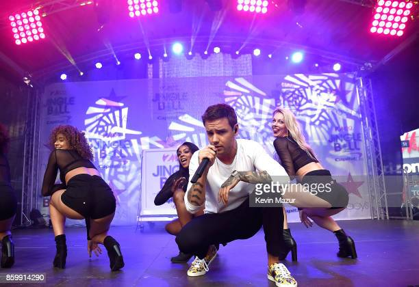 Liam Payne performs on stage during Z100's Jingle Ball Presented by Capital One Official KickOff Event At Macy's Herald Square on October 10 2017 in...