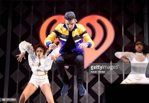 Liam Payne performs onstage at 1061 KISS FM's Jingle Ball 2017 Presented by Capital One at American Airlines Center on November 28 2017 in Dallas...