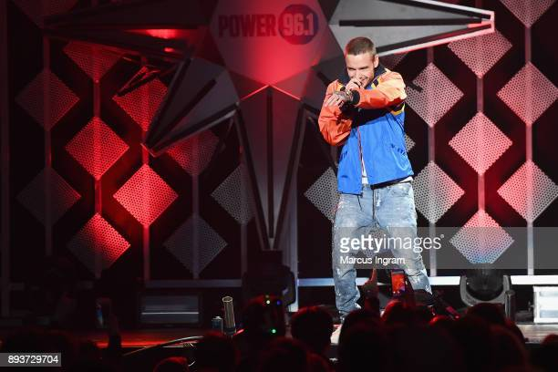 Liam Payne performs onstage during Power 961's Jingle Ball 2017 Presented by Capital One at Philips Arena on December 15 2017 in Atlanta Georgia