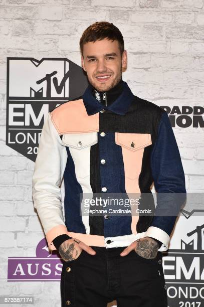 Liam Payne poses in the Winners Room during the MTV EMAs 2017 held at The SSE Arena Wembley on November 12 2017 in London England