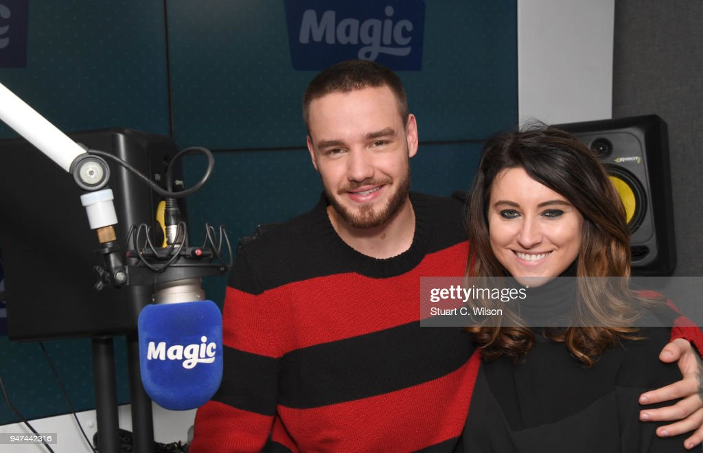 Liam Payne poses with Louise Molony at Magic Radio on April 17, 2018 in London, England.