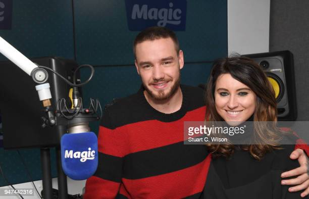 Liam Payne poses with Louise Molony at Magic Radio on April 17 2018 in London England